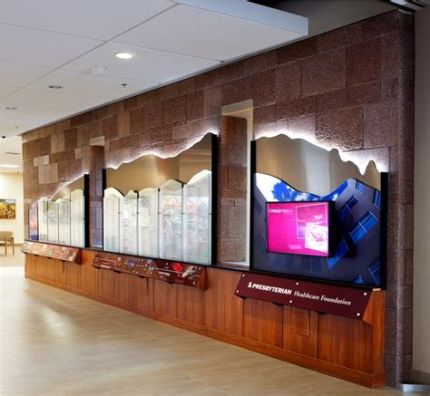 wall displays new presbyterian rust medical center showcases dynamic