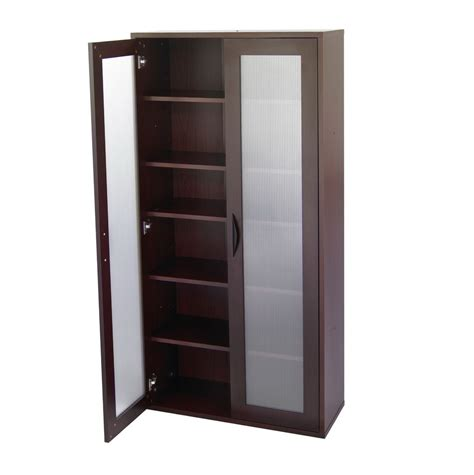 Glass Storage Cabinet Wood Storage Cabinets With Doors And Shelves Home Design Ideas