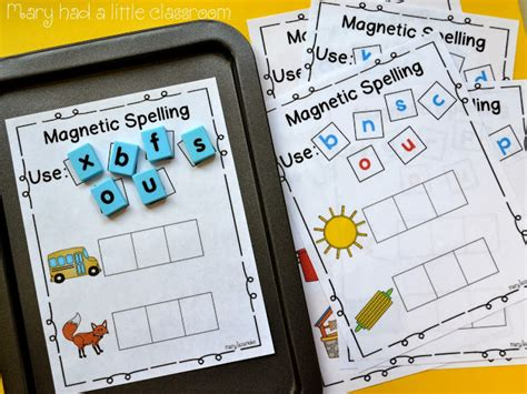 mary had a little classroom a great way to use magnetic letters for spelling cvc words