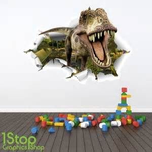 Dinosaur Stickers For Walls Dinosaur Full Colour 3d Wall Sticker Boys Girls T Rex