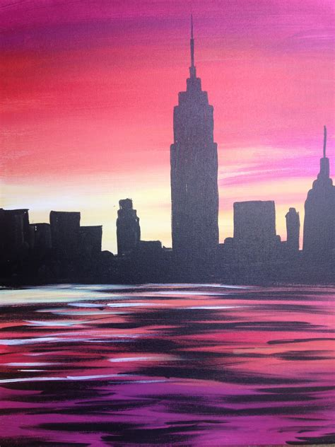 Paint Nite Nyc Sunset More Than A Buzz