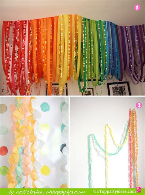 20 decorating ideas using paper streamers top