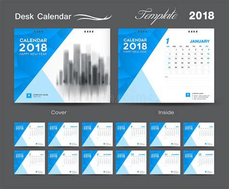 creative calendar layout design desk calendar 2018 template layout design blue cover