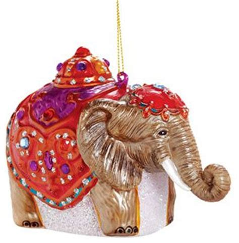 glass elephant ornament asian christmas ornaments by