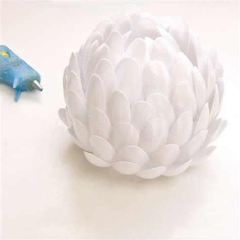 plastic spoon roses diy recycled diy plastic spoon candle holder popsugar smart living