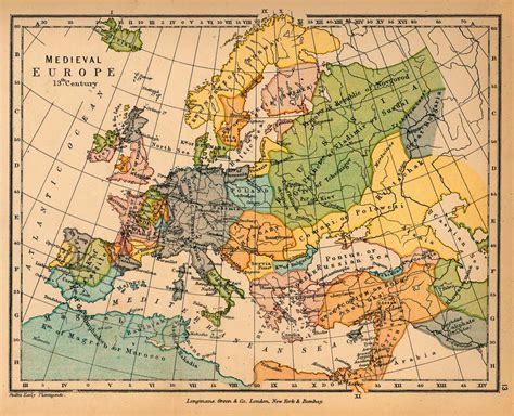 Map Of Medieval Europe by Map Of Medieval Europe