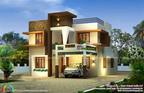 2 bhk home design contemporary east facing house plan kerala home design