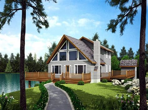 Waterfront Cottage Plans by Waterfront Homes House Plans Waterfront House With Narrow