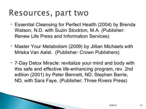 How Three Rivers Detox by Detoxification Presentation 97 To 2003 Format
