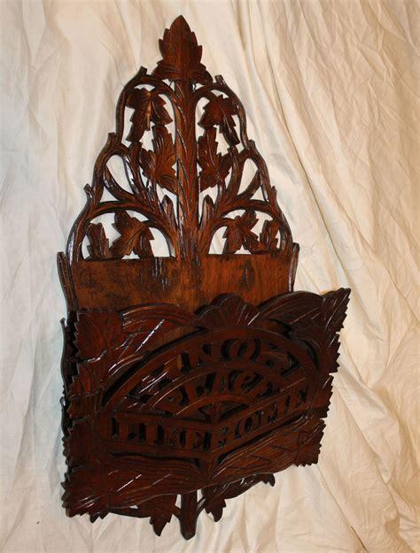 bargain johns antiques victorian walnut wall hanging