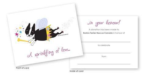 donation in memory of card template donate boston terrier rescue canada