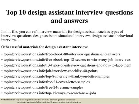 top  design assistant interview questions  answers