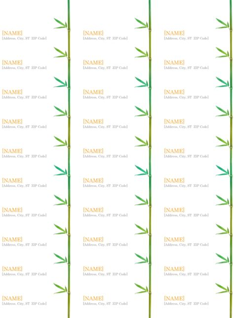 5 address labels template itinerary template sample