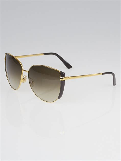 gucci gold metal frame oversized sunglasses 29080 s