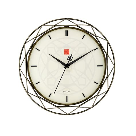 Home Decor Furnishings Accents by Frank Lloyd Wright Luxfer Prism Wall Clock C4834