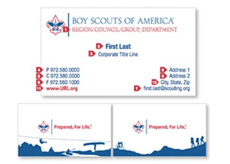 boy scout business card template identity collateral scouting wire scouting wire