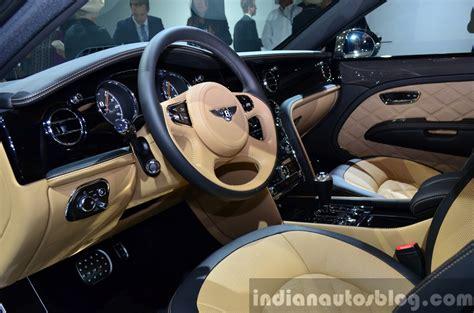 bentley mulsanne interior 2014 bentley mulsanne speed interior at the 2014 paris motor