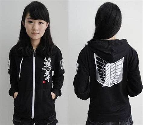Sweater Recon Corps attack on titan recon corps black hooded by redstarcosplay on etsy style black