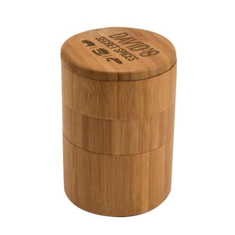 Bamboo Storage Box Besar 3 tiered secret spices bamboo storage box