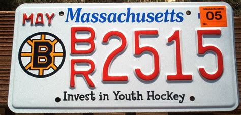 boston bruins bay state plates