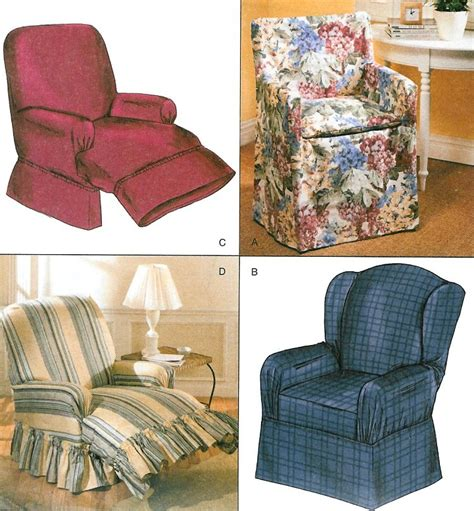Pattern Recliner Slipcover by Chair Cover Sewing Pattern Wingback Recliner Club