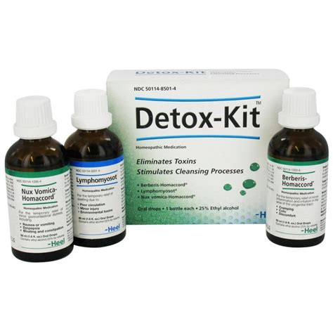 Kit Detox Heel by Heel Detox Kit Berberis Nux Vomica Lymphomyosot Satisfarma