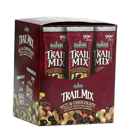 Planters Nuts And Chocolate Trail Mix by Planters Trail Mix Nuts Chocolate 18ct Nuts Seeds