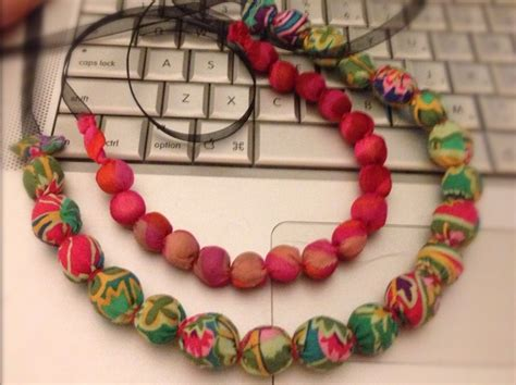 how to make fabric jewelry how to make a fabric covered bead necklace snapguide
