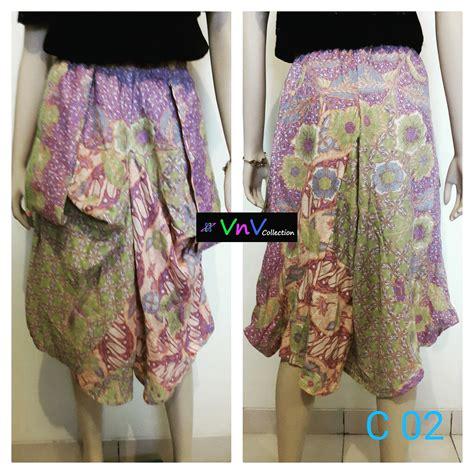 Celana Batik Kulot Batik Modern jual kulot dan rok batik modern vnvcollection