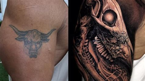 dwayne johnson tattoo bull the rock explains details behind incredible new evolution