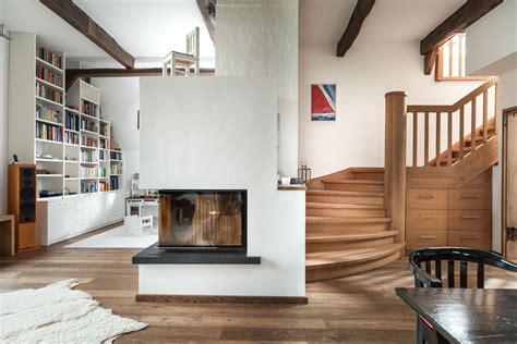 design türen treppe kamin design