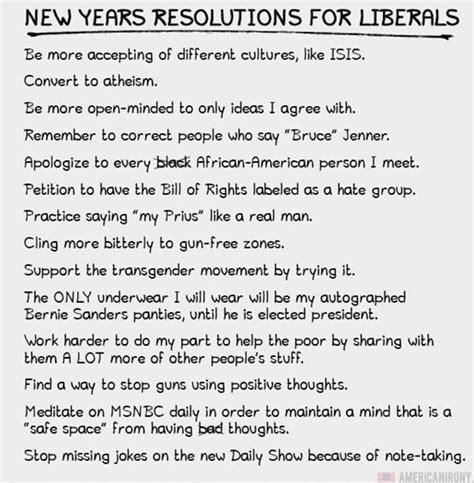 common new years resolutions new year s resolutions for liberals common sense evaluation