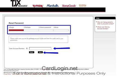 Password Lookup Tjx Rewards 174 How To Login How To Apply Guide