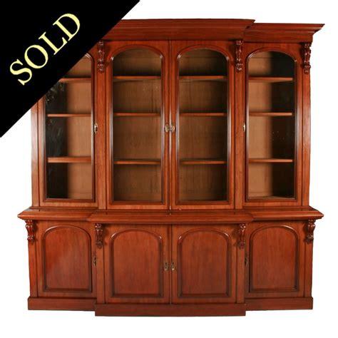 antique victorian bookcase victorian breakfront bookcase