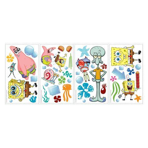 Spongebob Wall Stickers spongebob squarepants peel and stick wall decals kids