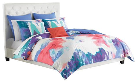 periwinkle comforter amy sia painterly twin periwinkle comforter set