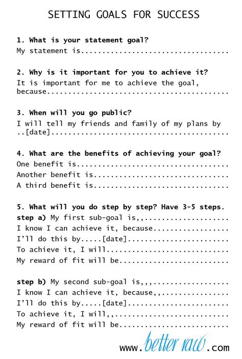 new year s resolutions and setting your goals for success