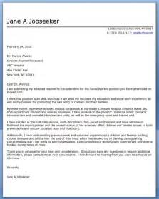 cover letter social work exles career