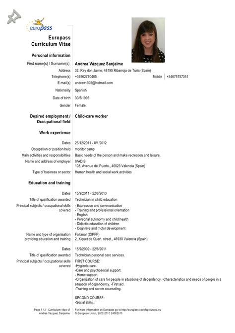 format cv europeo word download europass cv templates comoto