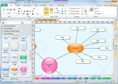 Concept Mapping Templates Free Templates For Care Maps