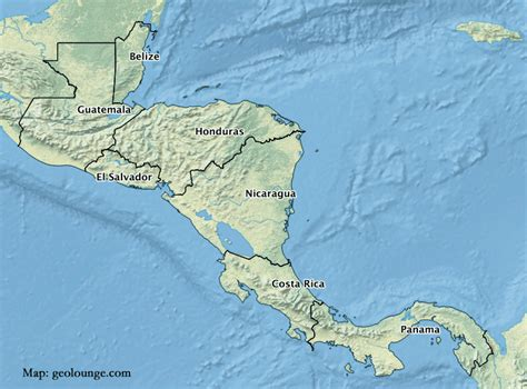 map of central american countries geography mnemonic to learn the countries of central