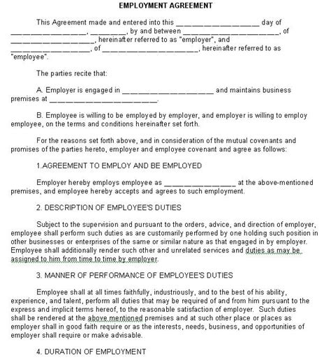 employee credit card agreement template new york city employment agreement form sle