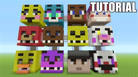 tutorial video minecraft minecraft tutorial how to make a five nights at freddy s