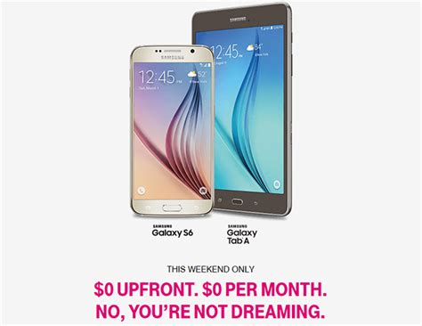 T Mobile Background Check Grab A Free Samsung Galaxy S6 And Galaxy Tab A Tablet This Weekend At T Mobile