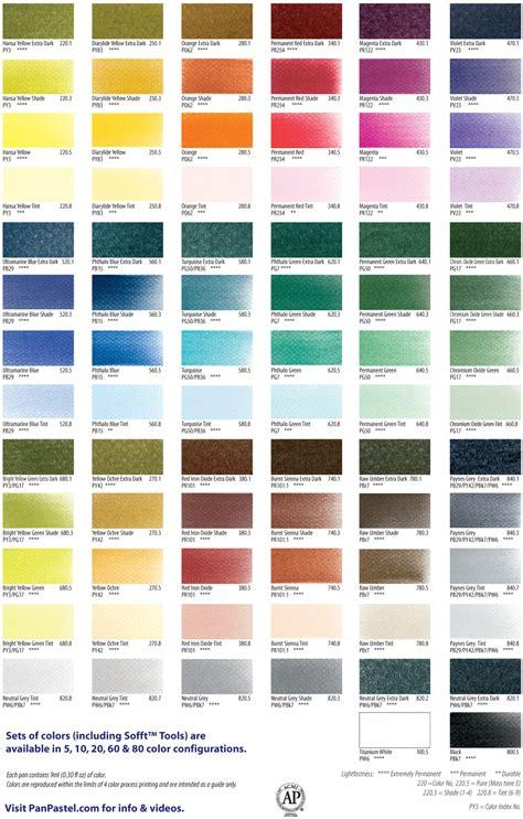 pastel colors list panpastel individual colors marco s paper
