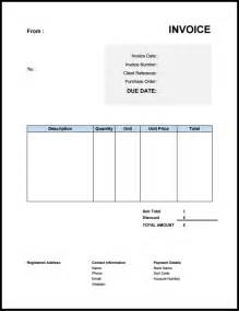 Example Of Invoice Template Free Invoice Template Uk