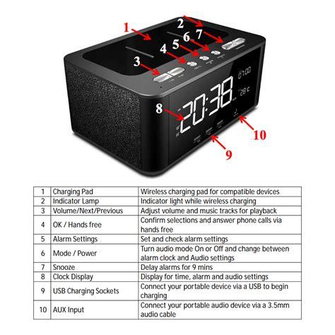 qi charger speaker qi wireless charging alarm clock bluetooth speaker fm