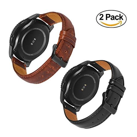 Leather Band For Samsung Gear S3 With Release gear s3 frontier band with release pins 22mm genuine leather replacement smart band