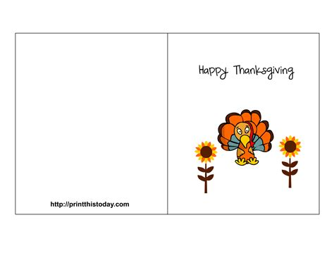 Thanksgiving Card Template For by Free Printable Thanksgiving Cards