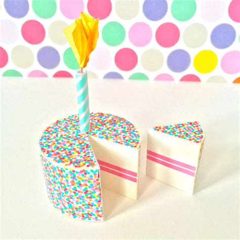 Paper Craft Birthday - birthday cake printable papercraft
